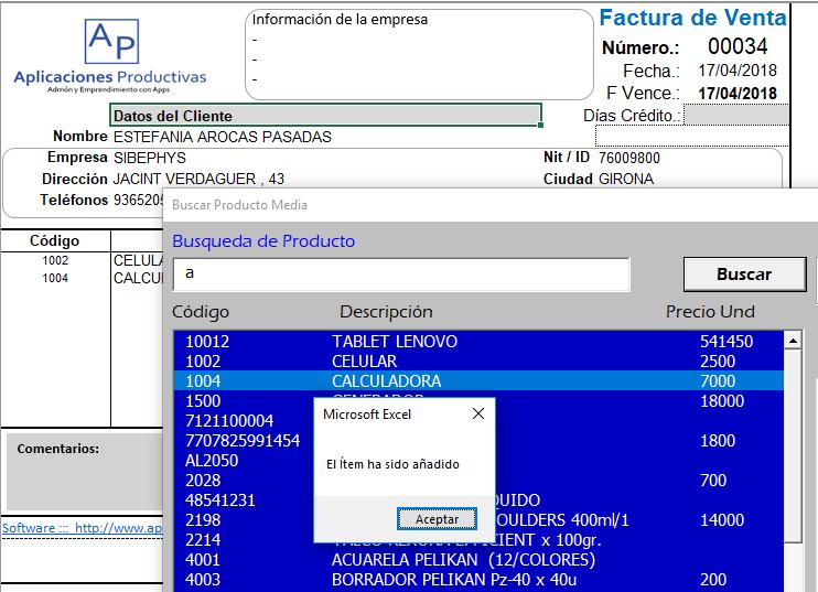 sistema de facturacion e inventario en excel  u2013 formato